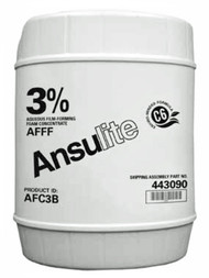 A  photograph of a 50004 Ansulite™ 3% AFFF Concentrate (AFC3B), in a 5 gallon (19 liter) pail.