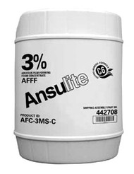 A  photograph of a 50006 Ansulite™ 3% AFFF MIL-SPEC Concentrate (AFC-3MS), in a 5 gallon (19 liter) pail.