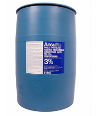 A  photograph of a 50009 Ansulite™ AFC3B-FP29 3% Freeze-Protected AFFF Concentrate, in a 55 gallon (208 liter) drum.