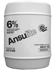 A  photograph of a 50010 Ansulite™ AFC6B 6% AFFF Concentrate, in a 5 gallon (19 liter) pail.