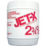 A  photograph of a 50018 JET-X 2 3/4% High-Expansion Foam Concentrate, in a 5 gallon (19 liter) pail.