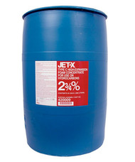A  photograph of a 50019 JET-X 2 3/4% High-Expansion Foam Concentrate, in a 55 gallon (208 liter) drum.