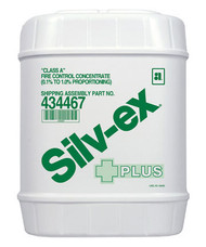 A picture of a 5-gallon container of Ansul Silve-ex Plus.