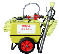 A photo of the side view of an Ansul Mobilcart Firefighting Foam Cart.