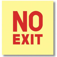 Picture of the Sign, No Exit, Glow in the Dark, self-adhesive vinyl.