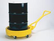 A photograph of a 04316 drum bogie dolly w/ 12 gallon spill capacity.