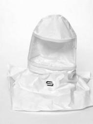 A photograph of a bl-20sicn bullard 20sicn tychem sl hoods w/ taped + sealed seams, no suspension, box/5.