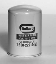 A photograph of a BL-23611 Bullard 23611 medium efficiency inlet filter for fresh air pumps.