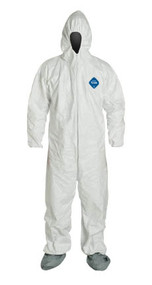 Tyvek® Coveralls, Zipper Front, Elastic Wrists and Ankles, Hood, Boots