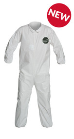A photograph of front of a 15025 Proshield® 50 coveralls, with zipper front, and elastic wrists and ankles.