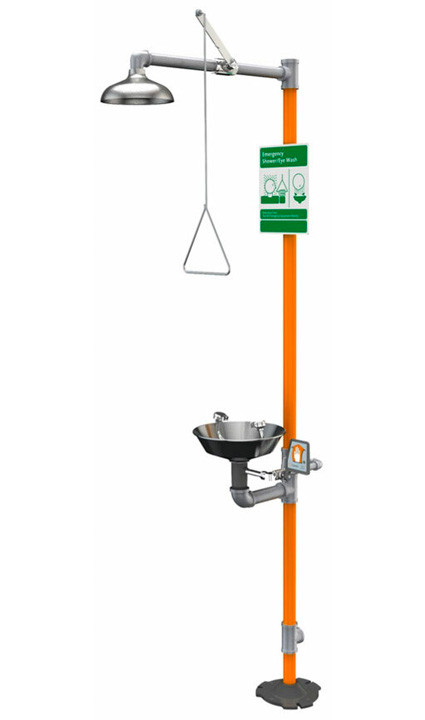 A photograph of a Guardian GVR1903 Vandal-Resistant Safety Station with Eyewash.