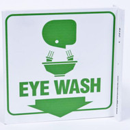 Eye Wash Wall-Projecting L-Sign w/ Graphics