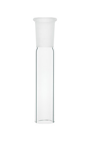 A photograph of a cgq-0132, ground quartz, outer joints, standard taper.