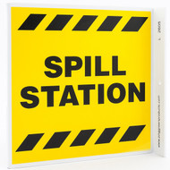 Photograph of the Spill Station Wall-Projecting L-Sign.