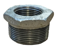 """A photograph of a Guardian 300-12-08HB 1-1/2"""" x 1"""" IPS Galvanized Steel Reducing Bushing for Shower Head Elbows."""