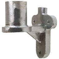 "A photograph of a 09904 metal wall bracket for 1-1/2"" fire hose pin racks."