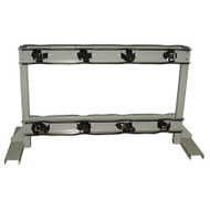 8 Gas Cylinder  Floor-Mounted Back to Back Storage Stand w/ Straps