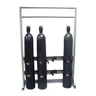 4-Cylinder Gas Cylinder Process Station w/ Dual Struts