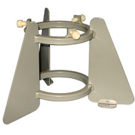 """A photograph of a 26040 1-cylinder steel medical oxygen and cylinder lecture bottle stand with 3.25""""- 4.25"""" size."""