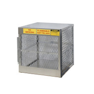 4-Cylinder Vertical LPG Cylinder Locker, Aluminum