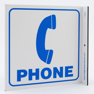 Photograph of the Phone Wall-Projecting L-Sign w/ Icon.