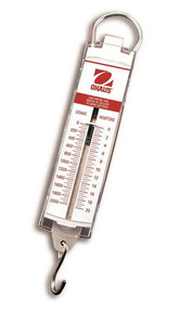 Photograph of an Ohaus Spring Scales w/ 100 to 5,000 Gram Capacities.