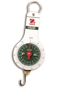 Photograph of an Ohaus Dial Spring Scales w/ 250 to 2,500 Gram Capacities.
