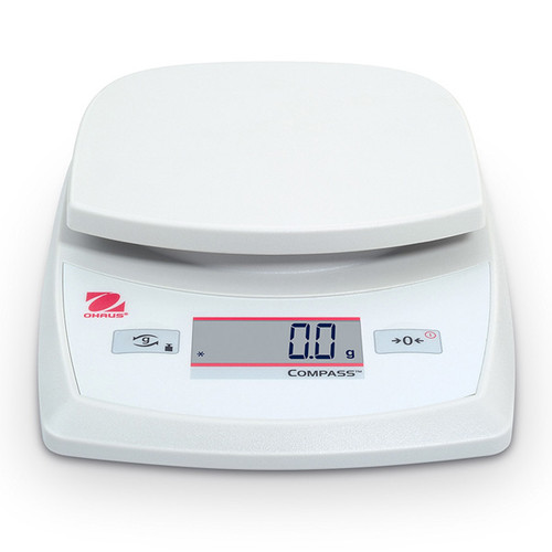 Photograph of Ohaus CR-Series Portable Electronic Scale, front facing.