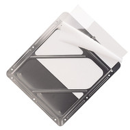 A photograph of a 03180 clear protective polyethylene shield for DOT placard holders.