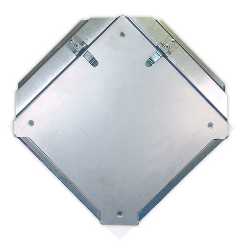 A photograph of a 03181 easy access DOT placard holder with protective shield.