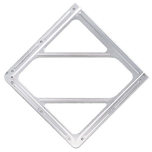 A photograph of a 03183 aluminum face plate DOT placard holder.