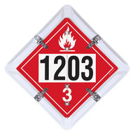 2-Legend DOT Fuel Flip Placard Systems, UN/NA Numbers 1202 and 1203