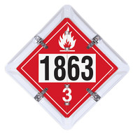 3-Legend DOT Fuel Flip Placard Systems, UN/NA Numbers 1202, 1203 and 1863