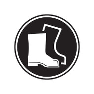 A photograph of a self-adhesive 01847 boots GHS PPE laboratory pictogram label pad.
