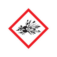 GHS Exploding Bomb Pictogram Labels