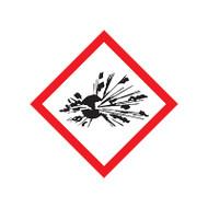 GHS Exploding Bomb Pictogram Labels