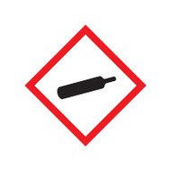 A photograph of a 03604 GHS gas cylinder pictogram label.
