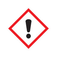 GHS Exclamation Point Pictogram Labels