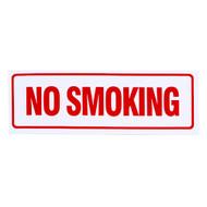 "No Smoking Sign, Self-Adhesive Vinyl, 12"" w x 4"" h"