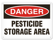 DANGER, Pesticide Storage Area OSHA Signs