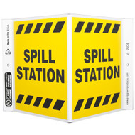 Spill Station Wall-Projecting V-Sign