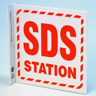 SDS Station Wall-Projecting L-Sign