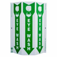 Eye Wash Tri-View Sign w/ Graphics and Down Arrow, Standard