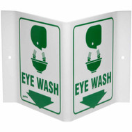 Rigid Acrylic Eye Wash V-Sign w/ Graphics