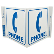 Photograph of the Phone Wall-Projecting V-Sign w/ Icon.