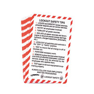 Wallet Size Lockout Safety Cards, Bilingual English/Spanish, 10/pkg