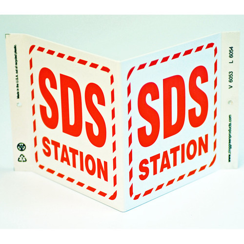 Photograph of the SDS Station Wall-Projecting V-Sign.