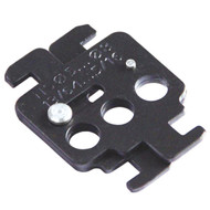 A photograph of a black 07130 Merlin Gerin 4C circuit breaker lockout device.