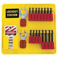 16-Padlock Capacity Lockout Station, Equipped