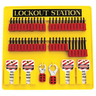 48-Padlock Capacity Lockout Station, Equipped